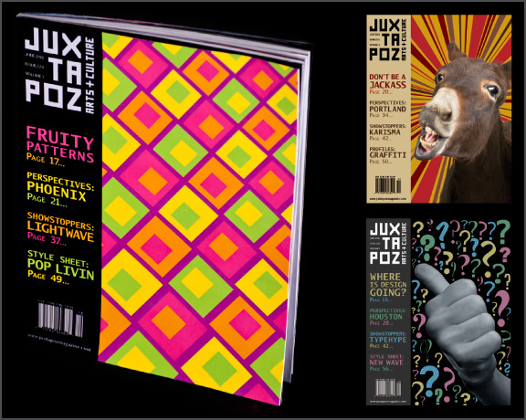 Juxtapoz magazine's redesigned front covers