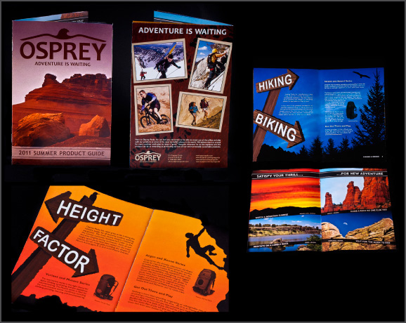 Osprey Packs, Inc. redesigned product brochure