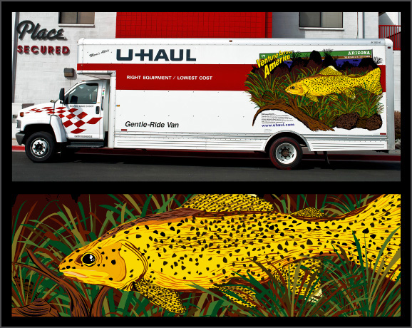 Uhaul truck illustration graphic